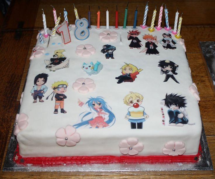 anime otaku anime manga anime anime cake 27th birthday beautiful cakes ...