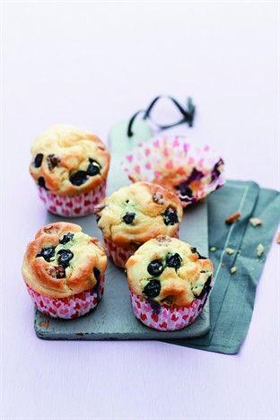 Muffins noix et myrtilles - Larousse Cuisine