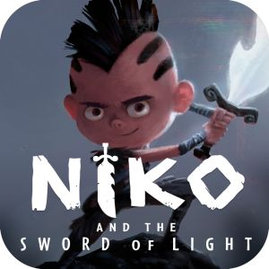 Check out Niko and the Sword of Light, it tells a fun story has stunning visuals and is one of the first fully animated comic books.  Ipad only!