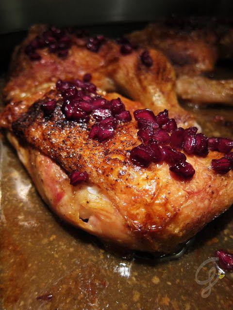 Cosce di pollo croccanti alla melagrana
