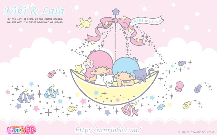 Little Twin Stars Wallpaper 2012 七月桌布 日本 SanrioBB Present
