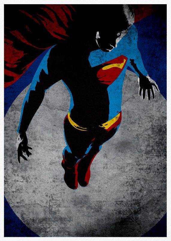 Superman Retro Pop Art A3 Poster Print