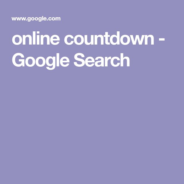 online countdown - Google Search