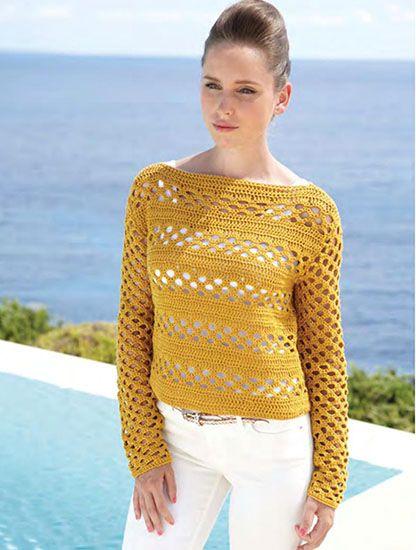 Women's sweater crochet pattern