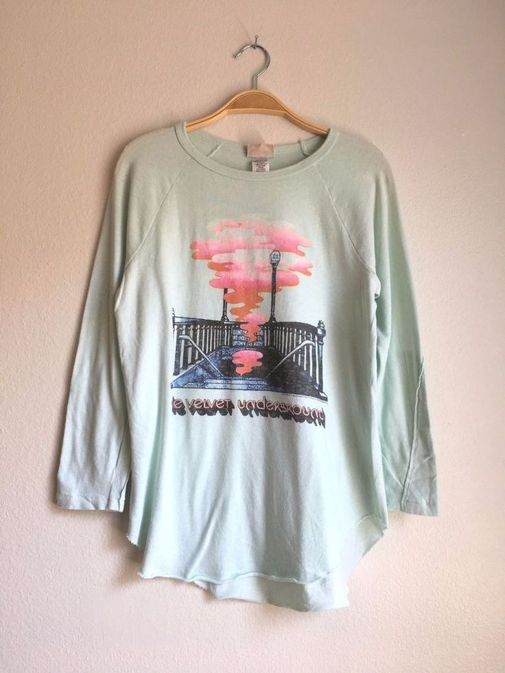JUNK FOOD Clothing Women's Vintage The Velvet Underground Raglan Top Tee XS $65 #JunkFood #Vintage #Casual