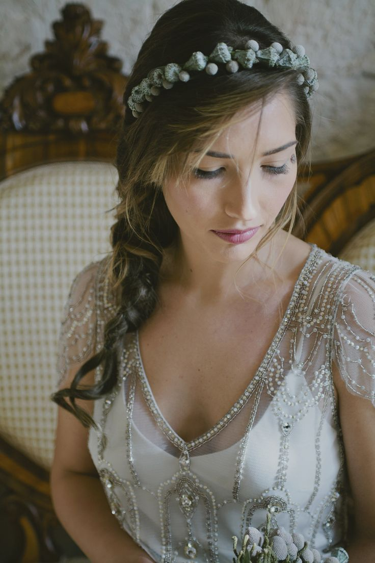 Styling & Planning: The Wedding Care - Photographers: Purewhite Photography.  Dress Jenny Packham Flower Fleur&Decor di Anna Galli.  Read More on SMP: http://stylemepretty.com/vault/gallery/75447