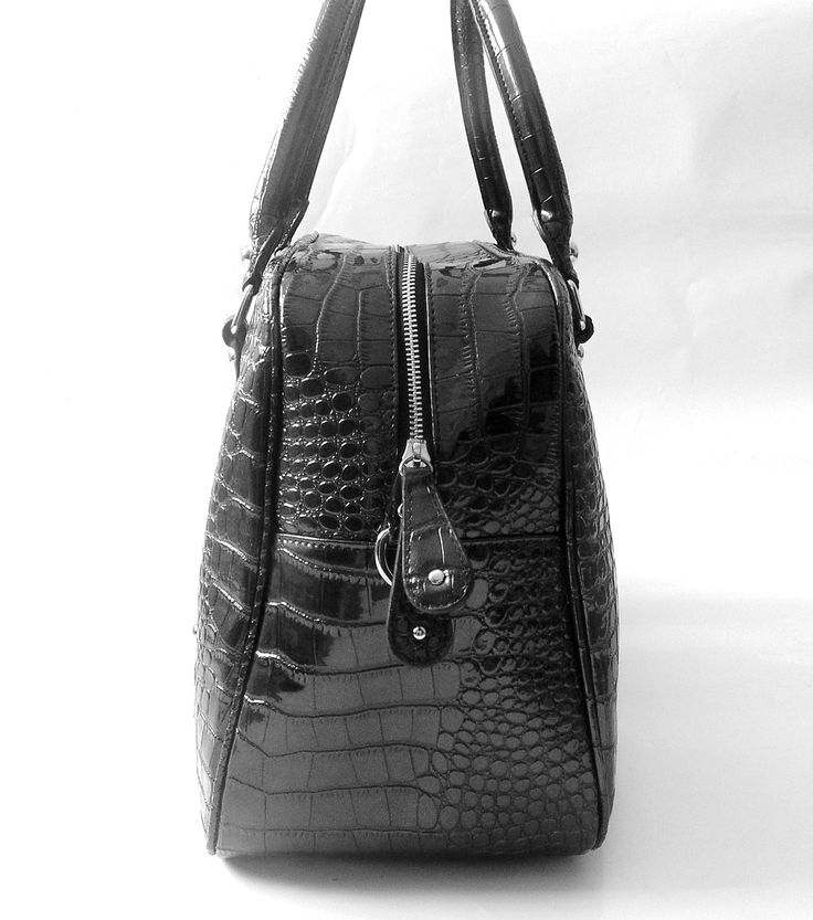 Our Kensington #baby changing/#diaper #bag is made from Faux #leather with a croc skin effect!