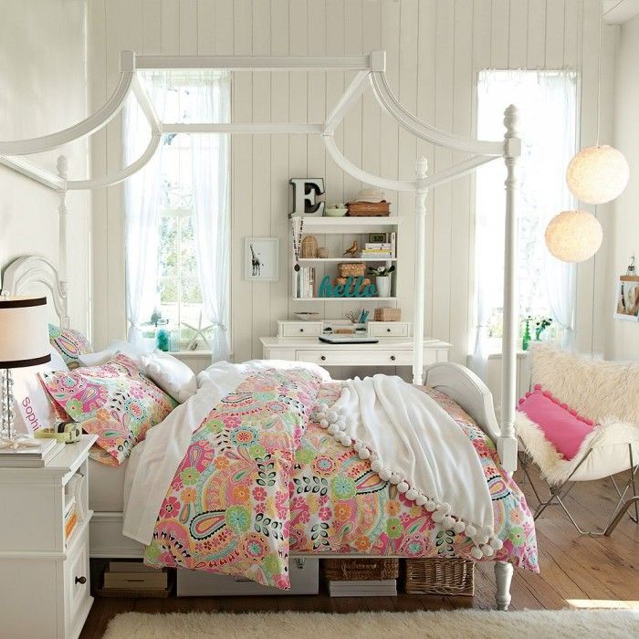 Love the shape and style of this white canopy bed. Check out the furlicious  chair - 25 Best Canopy Re-Do Images On Pinterest