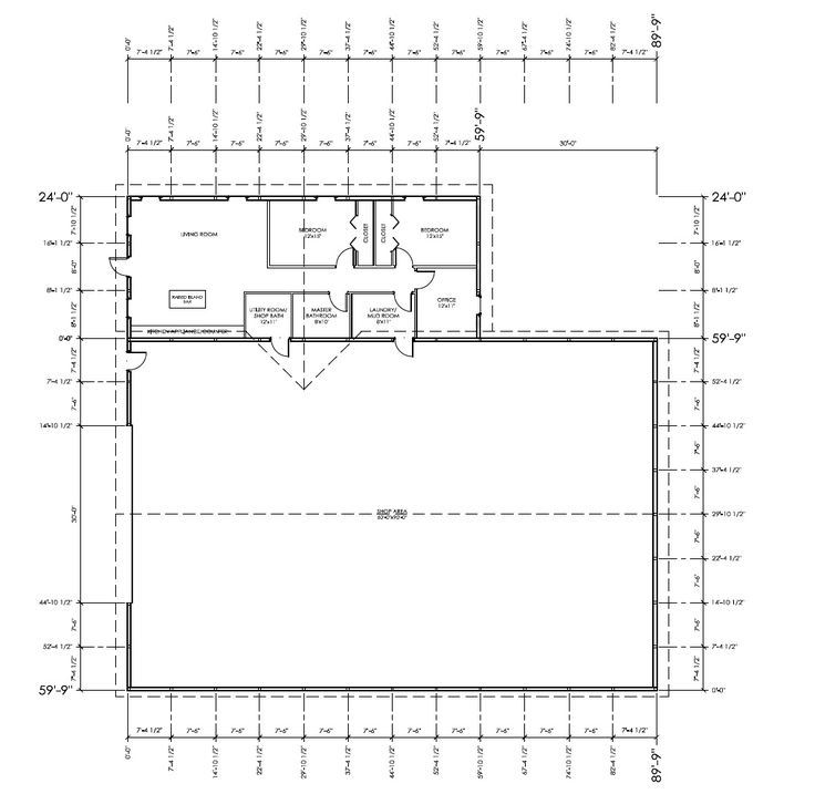 Pole barn floor plans with living quarters gurus floor for Pole barn floor plans with living quarters