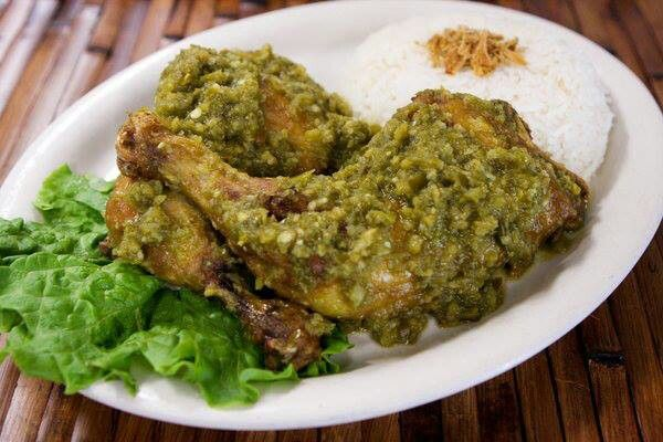 Chicken with chilli sauce / ayam cabe ijo
