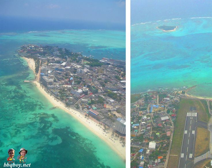 San Andres, Colombia, from the air