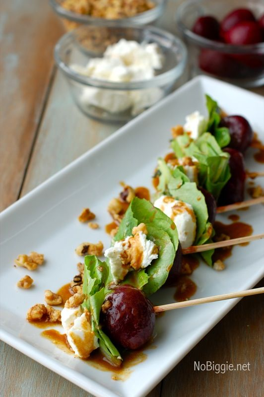 Oscar Party Food! - beet salad on a stick via NoBiggie.net