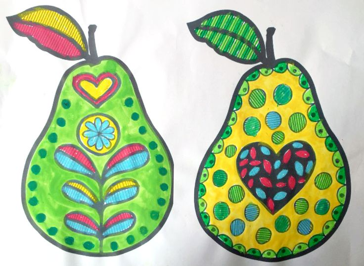 The ImaginationBox: free printable patterned pears template