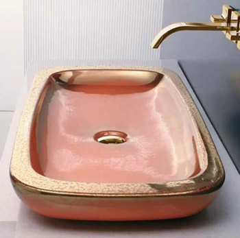 Master Ceramiche Platea Countertop Basins, available in various colours