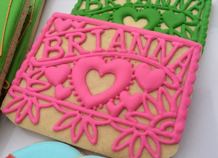 Papel picado decorated cookies