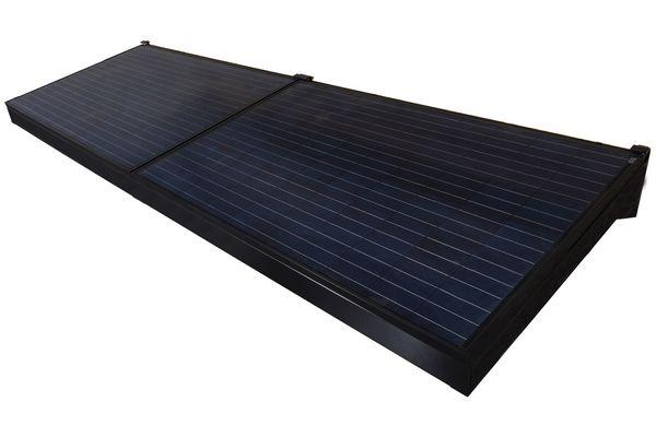 Brise-soleil photovoltaïque Marquise Solaire - http://www.maisonetenergie.info/brise-soleil-photovoltaique-marquise-solaire-2017-03/  Source : http://www.maisonetenergie.info #BriseSoleil, #Électricité, #Énergie_Solaire, #Imerys_Toiture, #Panneau_Solaire, #Panneau_Solaire_Photovoltaïque