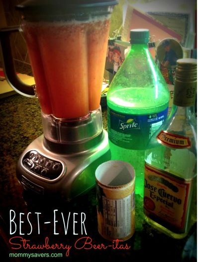 These homemade Strawberry Beer-itas are SOOO much better than the ones in the stores.  You'll thank me.
