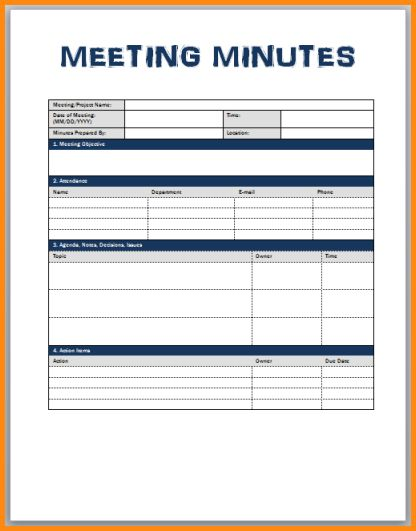 8+ minutes of meeting format | workout spreadsheet