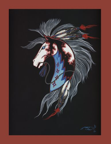 Beautiful Fierce Native American Horse