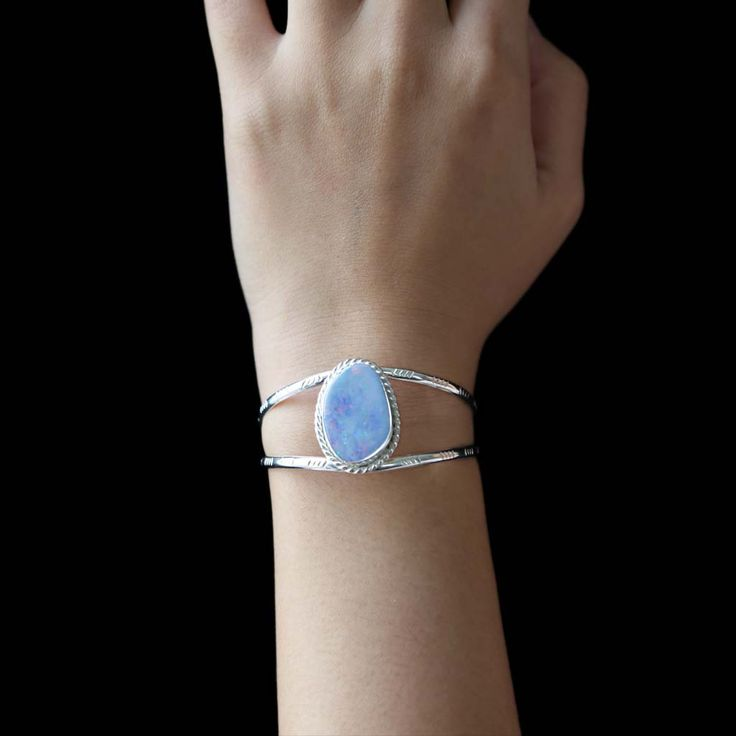 Stamped Opal Cuff | AT THURSDAY