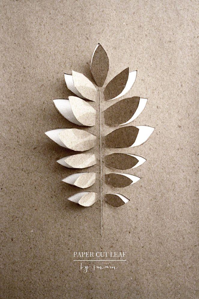 Paper cut leaf /