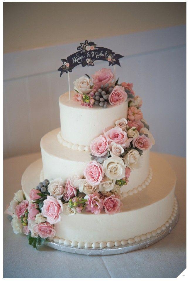 Elegante y delicioso pastel de bodas