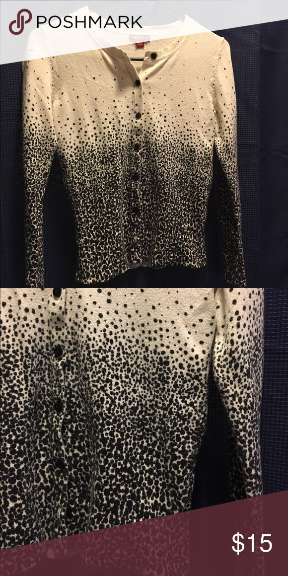 Ombré dot black and white cardigan Excellent used condition. Sweaters Cardigans