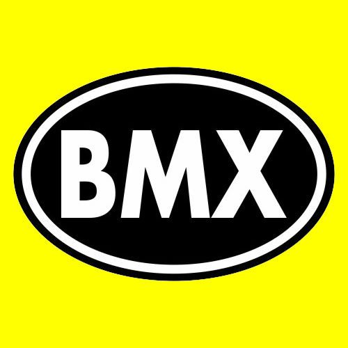 "New ""BMX"" racing freestyle OVAL WINDOW DECAL bumper sticker bike helmet Mongoose"