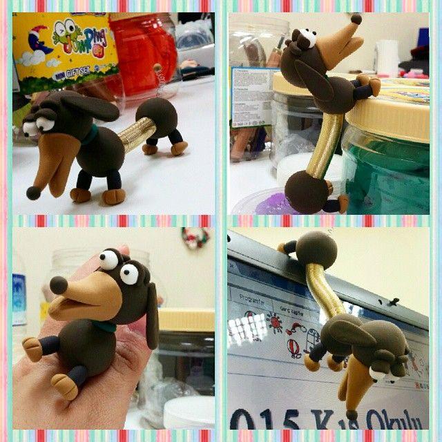 Toy Story'nin yaramaz köpeği Slinky Dog #jumpingclay #jumpingclaytr #slinkydog #toystory