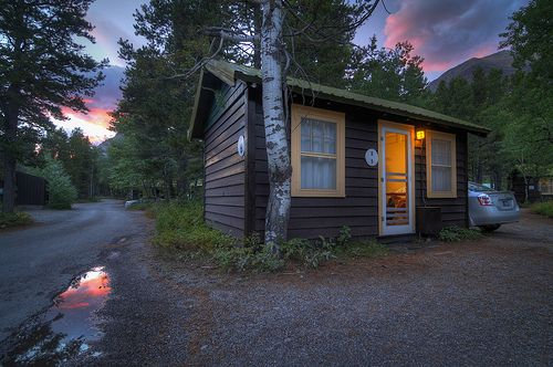 Glacier National Park, Swiftcurrent Motor Inn and Cabins HDR