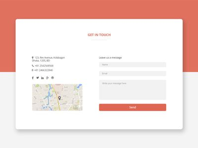 Best Contact Form Ideas Only On Pinterest Clean Websites - Bootstrap contact us page with map