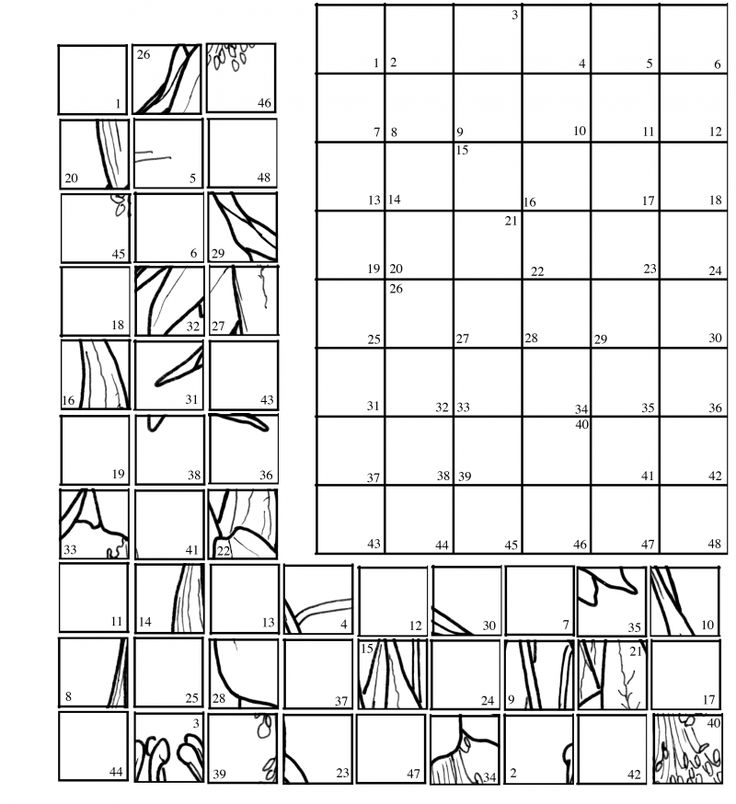 grid mystery puzzles colouring pages