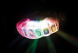 American  DJ Jellyfish RGBW LED Lighting Fixture with Transparent Case - DMX -  Auto and Sound Activated Modes