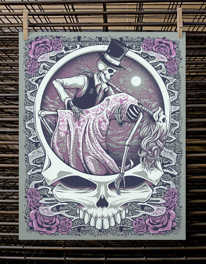grateful dead poster images | Grateful Dead One Last Dance Print by Half Hazard Press Purple Variant ...