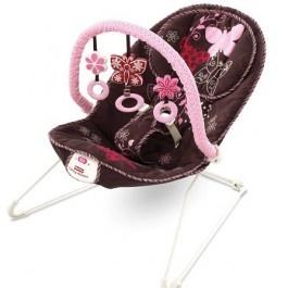Cadeira vibratória da marca Fisher-Price modelo Pink & Mocha