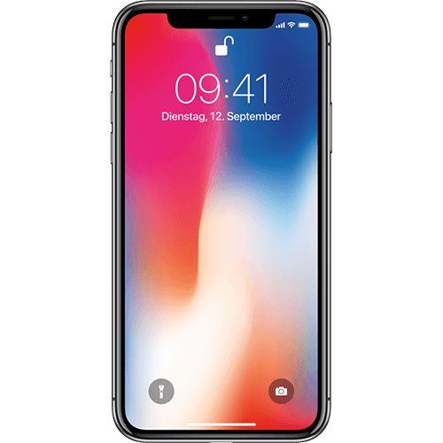 Apple iPhone X Space Grau Vorne und Hinten