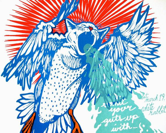 Screeching Weasel San Antonio silkscreened poster by Squid Ink Collective