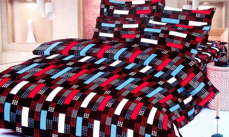 Multicolour Geometrical Print double Bedsheet from Urban Buy