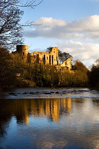 The Castle Reflected in the Tees Barnard Castle County Durham England by Mark Sunderland, via Flickr