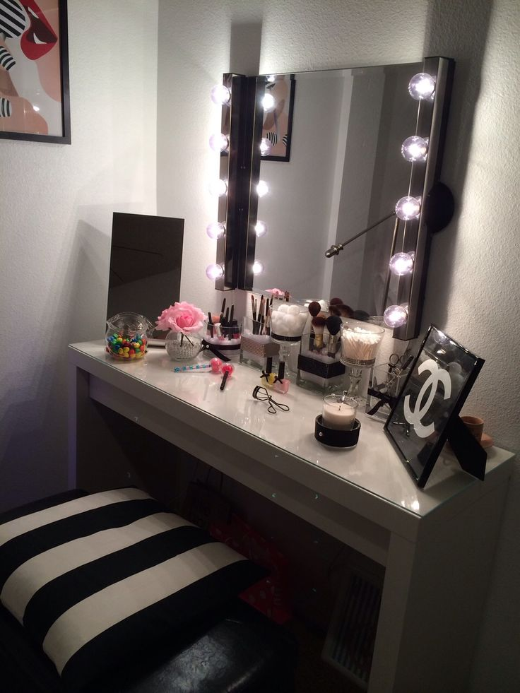 Coiffeuse Miroir Lumineux 486 Best Glam/ Beauty Room Ideas Images On Pinterest