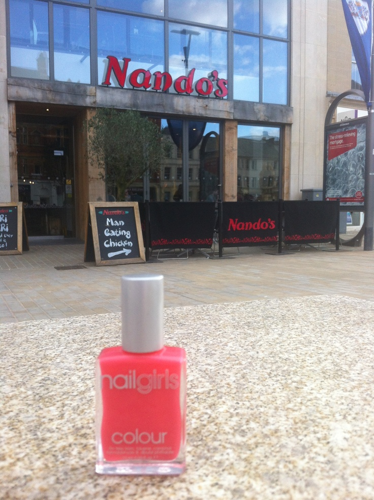 Two of our favourite things- nail polish and Nandos!