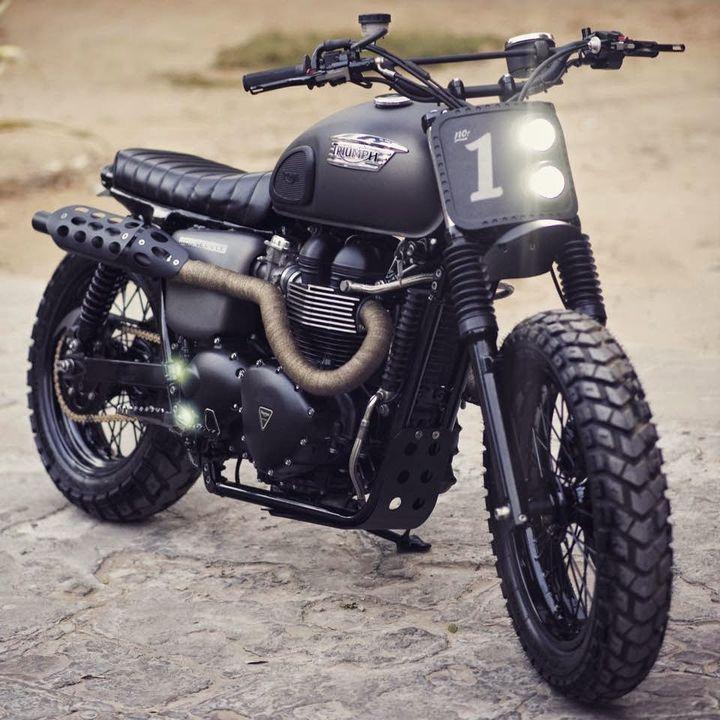 Triumph Bonneville Scrambler by Rajputana Custom#motorcycles #scrambler #motos | caferacerpasion.com