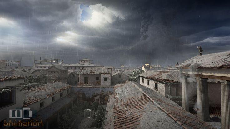 Recreación de la destrucción de Pompeya por la erupción del volcán Vesubio (Zero One Animation)