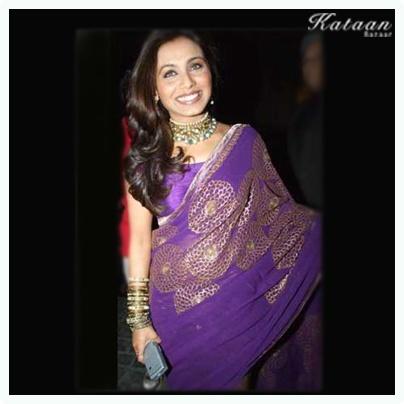 #Rani Mukherjee in a stunning purple saree