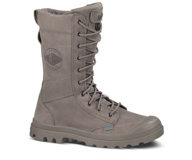 Paladium Boots Tactical Leather in Gray/Blue