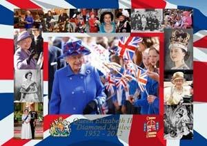 Queen Elizabeth II Diamond Jubilee Wooden Jigsaw Puzzle by Wentworth Jigsaw Puzzles