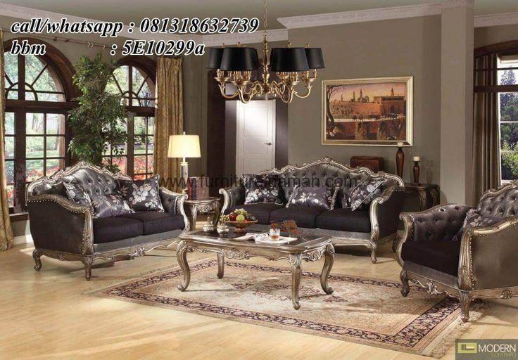 Kursi Tamu Sofa Model Ukir Klasik-yang satu ini merupakan salah satu desain sofa tamu modern yang bisa menjadi pilihan untuk ruang tamu anda