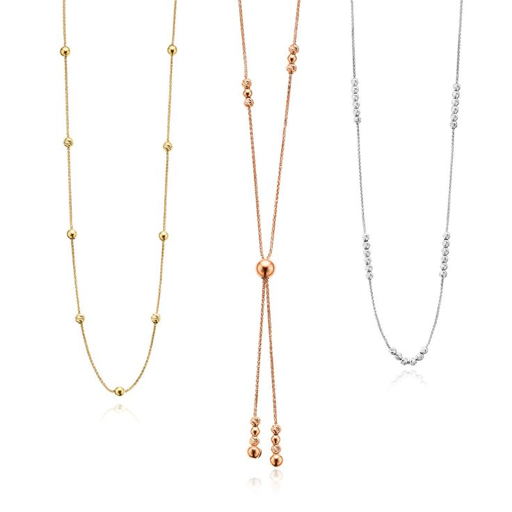 It's a party every day at Mazzucchelli's! The moveable spheres on these necklaces allow you to change the style of each piece so it really can be a new party every day! Available in Yellow, Rose or White Gold, there's a style to suit any celebration. Visit us in store today! #mazzucchellis #jeweller #jewellery #mazzucchellisjeweller #necklace #necklaces #gold #goldjewellery #goldnecklace #adjustablenecklace #australianjeweller #australianjewellery