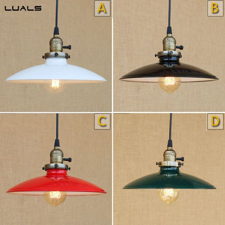 Awesome 2 Pcs Loft Retro Light Four Color Hanging Lamp Cafe Bar Pendant Lights  Creative Edison