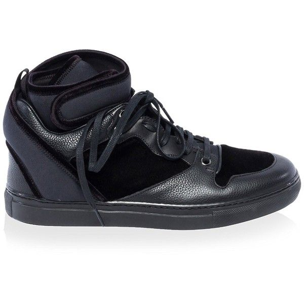Balenciaga Women's High Top Sneaker ($337) ❤ liked on Polyvore featuring shoes, sneakers, high top sneakers, balenciaga high top, hi tops, balenciaga and high top trainers